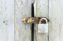 Padlock On The Old Door
