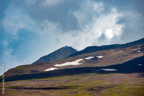 Mountain landscape and sky