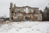 Ruins of an ancient castle Tereshchenko Grod in Zhitomir, Ukraine. Palace of 19th century