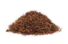 Dried Tobacco Isolated On Whit...