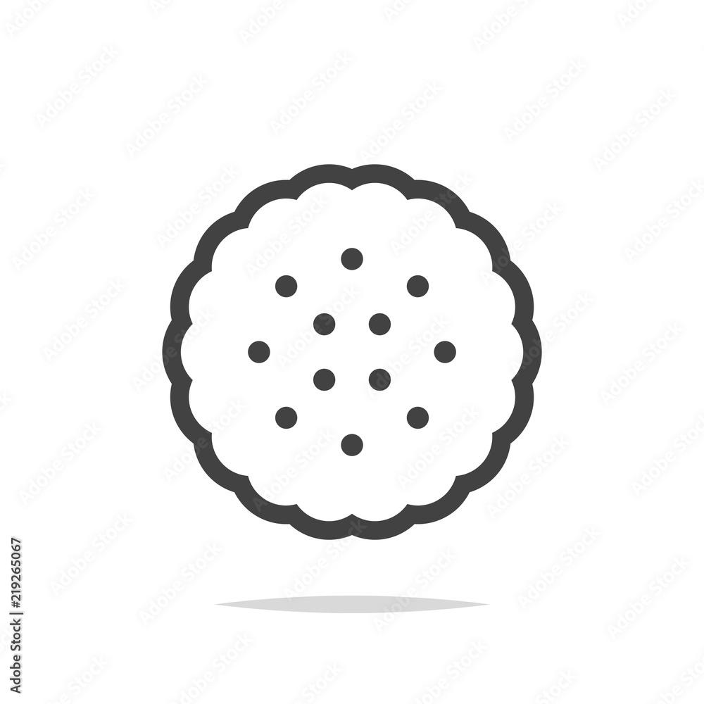Fototapeta Cracker biscuit icon vector