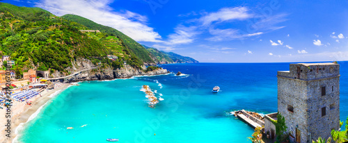 Coastal Italy series- national park Cinque terre and picturesque Monterosso al mare in Liguria