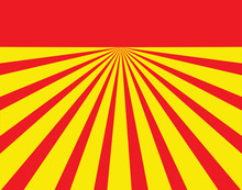Red And Yellow Converging Lines