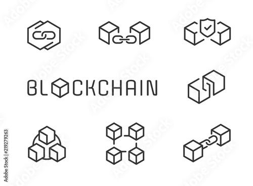 Foto Blockchain icon set