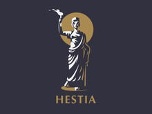 Goddess Hestia Or Vesta With A...