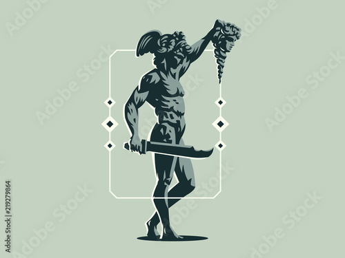 Photo Perseus with the head of Medusa.