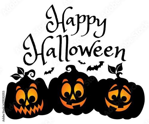 Foto op Canvas Voor kinderen Happy Halloween composition image 1
