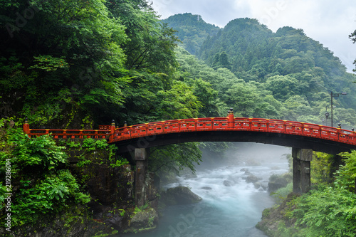 Spoed Foto op Canvas Brug beautiful shinkyo bridge at Nikko, Japan
