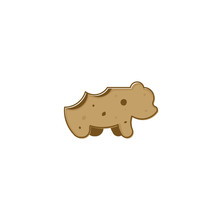 Chocolate Bear Cookies Logo Icon Delicious Illustration