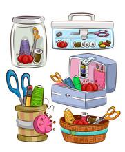 Sewing Kit Sets Illustration