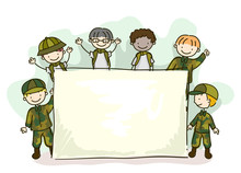 Stickman Kids Army Brat Board ...