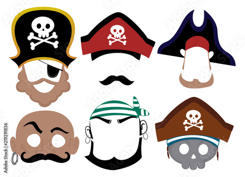 photo about Pirates Printable Schedule called Pirate Printable Mask Example - Obtain this inventory vector