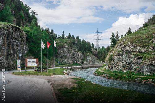 Fotografía  Fluss am Julier Pass