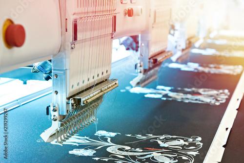 Obraz na płótnie Embroidery industrial machine