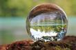 Leinwandbild Motiv Aare bei Belp in Kristallkugel, Schweiz