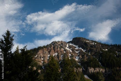 Photo Mountain Snow, Montana Sky
