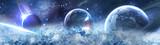 Fototapeta Kosmos - планеты в космосе - сатурн