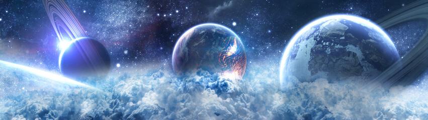 planety w przestrzeni - saturn