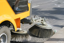 Street Cleaning Machine. Stree...