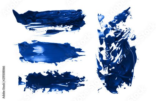 Abstract acrylic brush strokes. Collection.