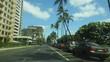 Driving in Honolulu, Hawaii along Ala Waitlist Canal.