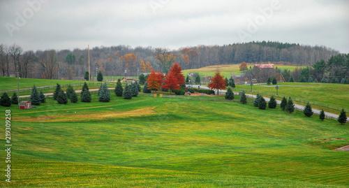 Woodstock  / The field where the Woodstock Rock Festival was held in 1969 Wallpaper Mural