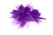 canvas print picture - Abstract purple powder explosion on white background, Freeze motion of purple dust splashing.