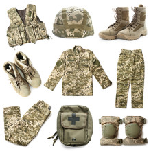 Set With Military Uniform On W...
