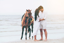 Young Couple Goes Horse Riding...