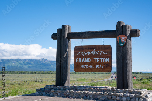 Slika na platnu Grand Teton National Park Welcome Sign