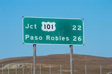 Highway 101 Road Sign