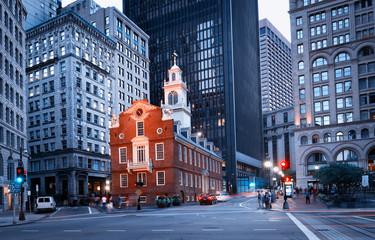 Old State House noću u Bostonu, SAD