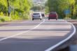 asphalt road and cars