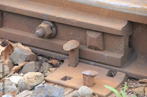 Foto op Canvas Spoorlijn 線路の接続部分