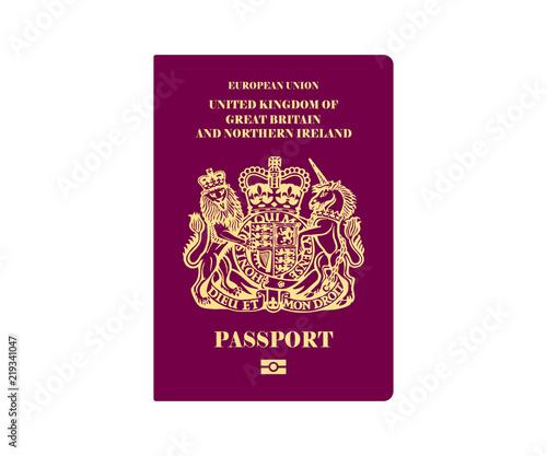 Fotografia, Obraz British Passport Illustration