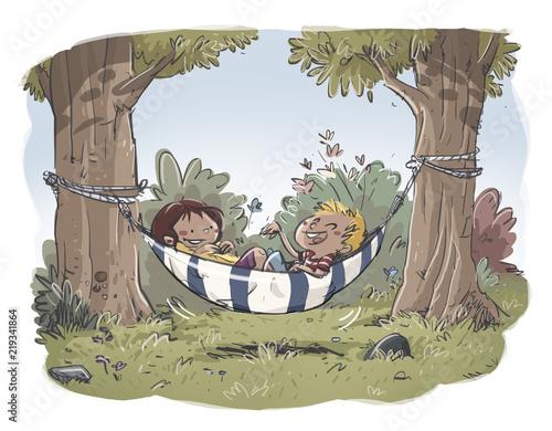 Obrazy dla dzieci dzieciecy-odpoczynek-na-hamaku