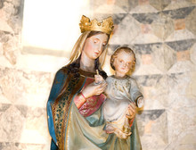 The Virgin Mary And Baby Jesus