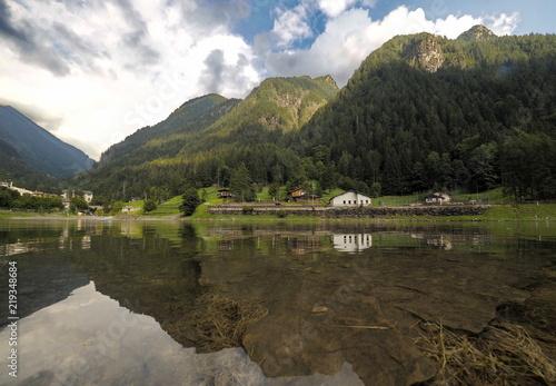 Lake of Carona, Bergamo, Lombardy, italy