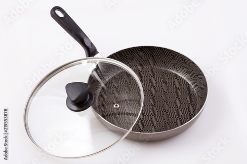 Non-stick frying pan with lid - Top view