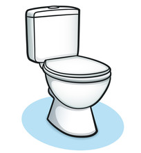 Vector Toilet Color Design Concept