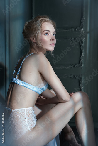 Recess Fitting womenART erotic portrait of young beautiful woman in sexy lingerie