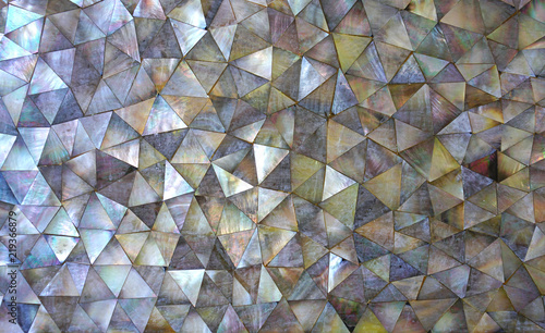 Fotografie, Obraz Dark mother of Pearl abstract mosaic background