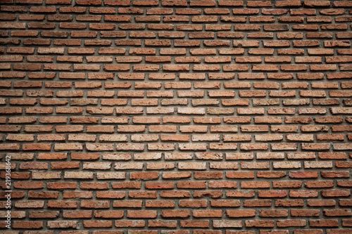 Red Brick Wall Background Or Texture Vignette On Corner Buy This