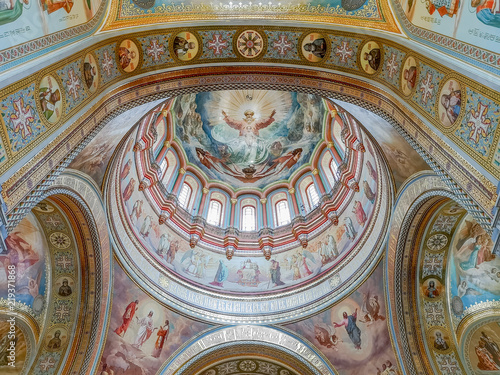 Cathedral Of Christ The Saviour Interior Detail Moscow