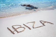 The Inscription Of Ibiza On Th...