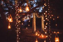 Night Wedding Ceremony With A ...