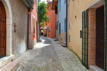 Fototapeta na wymiar Italia, Italien, Garda, Gardasee, Malcesine, Urlaub,