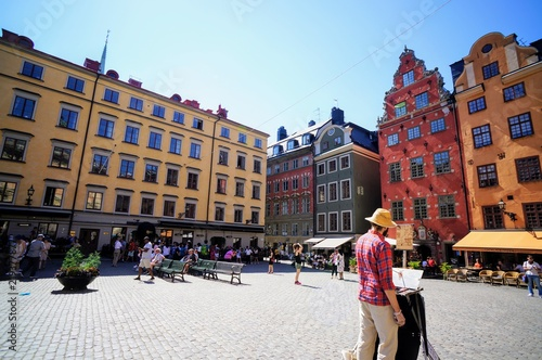 Staande foto Stockholm ストックホルムの町並み