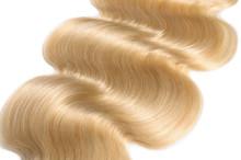 Body Wave Wavy Bleached Golden Blonde Human Hair Weaves Extensions Bundles