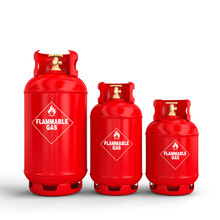 3d Gas Cylinder On White